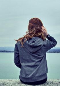 woman by lake sample photo cmc