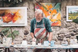 Man painting: CMC