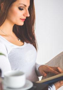 woman reading sample photo cmc